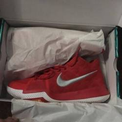 Kyrie 3 red suede