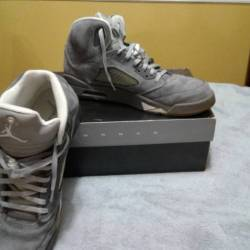 Air jordan 5 retro wolf grey 1...