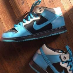 Nike sb dunk mid og black aqua...