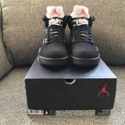 Nike air jordan 5 retro black ...