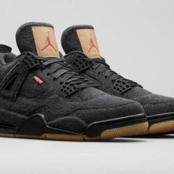Levis x air jordan 4 black denim