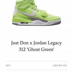 Jordan legacy 312 ghost green