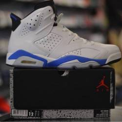 Jordan 6 sport blue pre owned