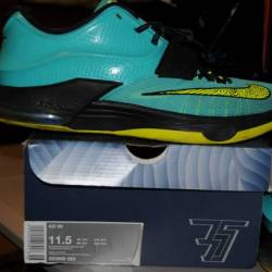 Nike kd vii teal green yellow ...