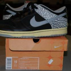 Nike dunk low cl black cement ...