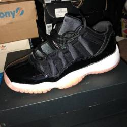 Air jordan 11 low gs bleached ...