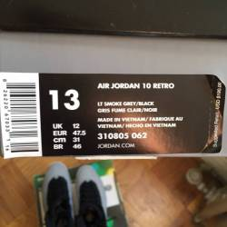 Air jordan 10 retro smoke gray