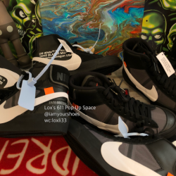 Nike blazer mid off-white grim...