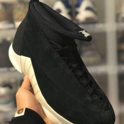 Psny x air jordan 15 black suede
