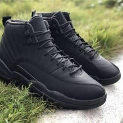 Jordan 12 winterized triple black