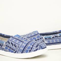 Toms bimini blue sweater print...