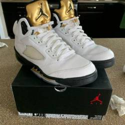 Air jordan 5 olympic (gold medal)
