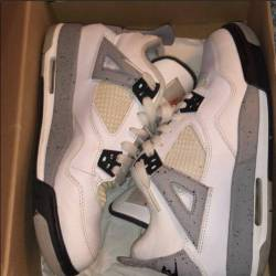 Air jordan 4 og 89 gs white ce...