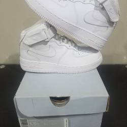 Air force 1 mid white pre-scho...