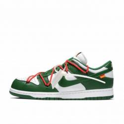 Nike dunk low off-white pine g...