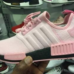 Womens adidas nmd r1 pink blac...