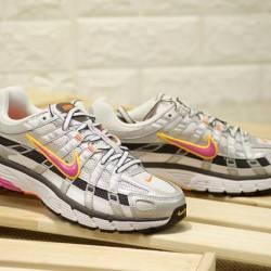 Nike wmns p-6000 white silver ...