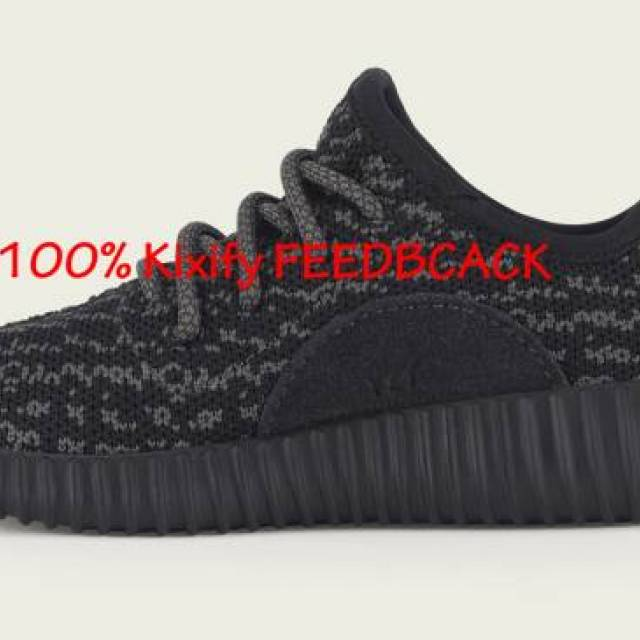 cheap for discount 16a88 b0ab1 Adidas Yeezy Boost 350 Pirate Black Infant