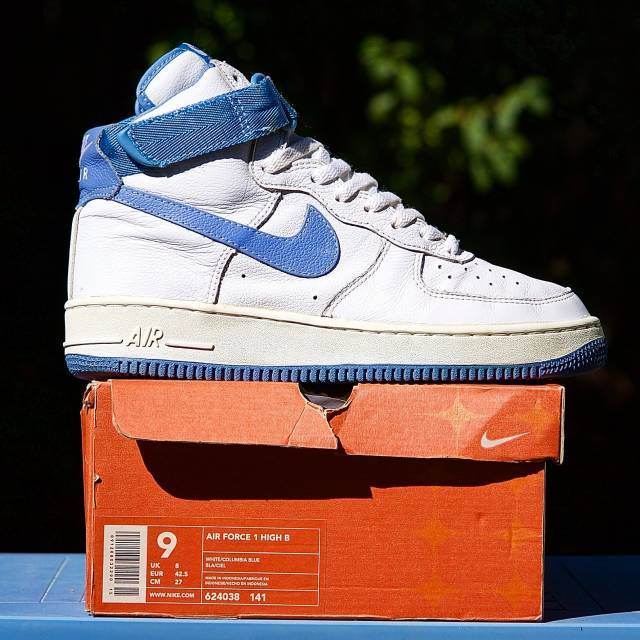 aa0437b51eec9 2001 Nike Air Force 1 High B Columbia Blue 324038 141 | Kixify Marketplace