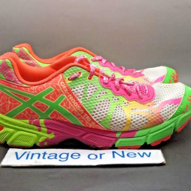 buy popular 7d1b5 8180f Girls' Asics Gel Noosa Tri 9 White Lime Hot Pink Runnin...