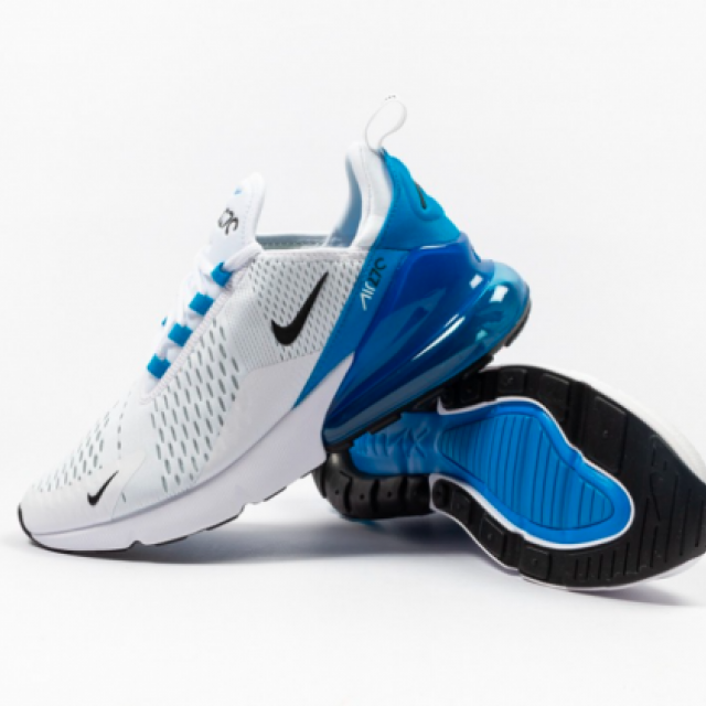Nike Air Max 270 White Photo Blue Mens Running Shoes Kixify Marketplace