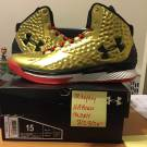 Rare Gold Under Armour Curry One ALL AMERICAN Size 15