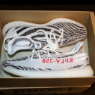 "Yeezy Boost 350 v2 ""zebra"" - white/cblack/red (US11)"