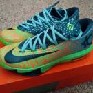 NEW Nike KD VI 6 LIGER Electric Green What The 9 Warriors Multi Color Mens 7