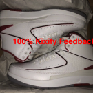 Air Jordan 2  White / Red Chicago
